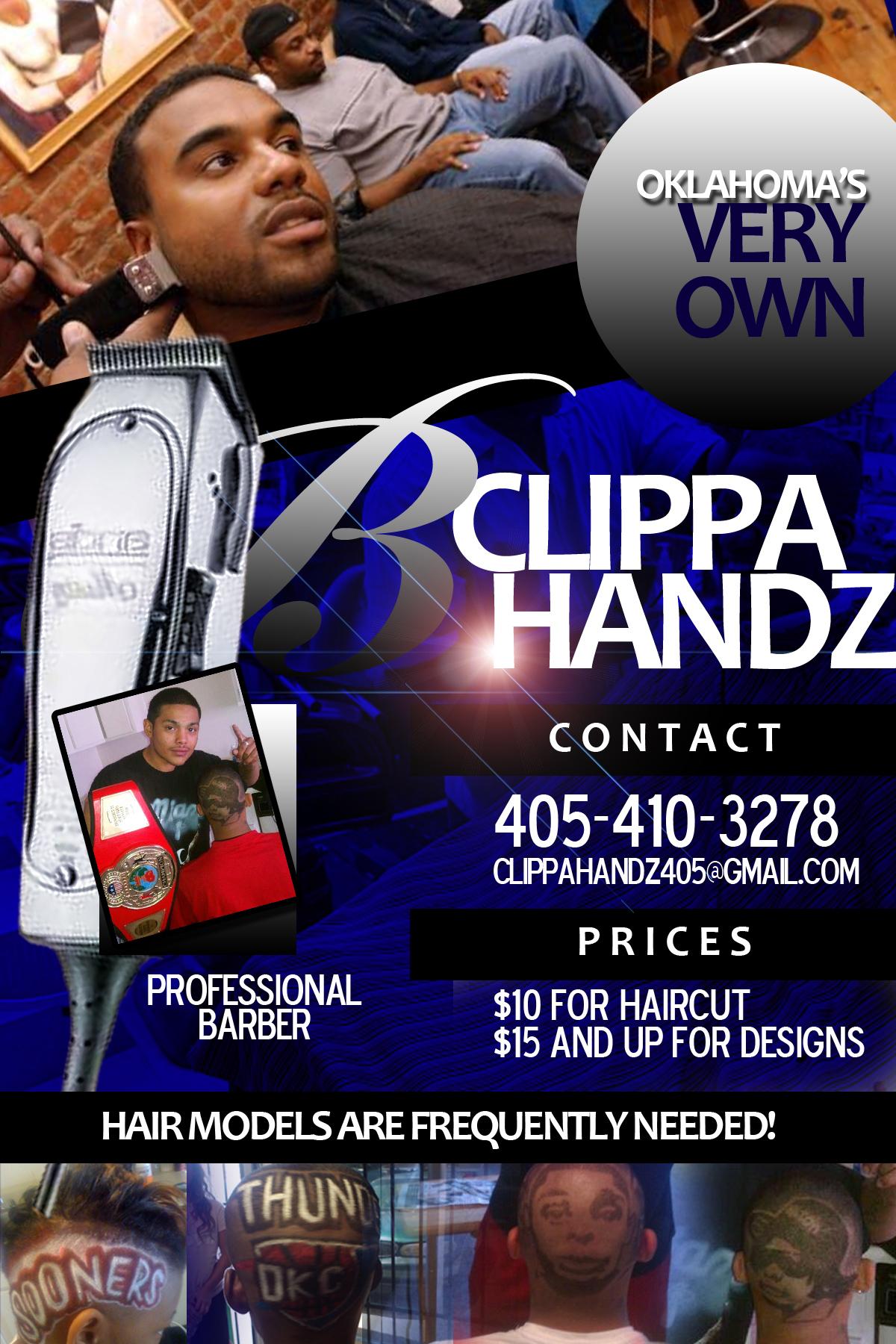 barber shop promotional flyer
